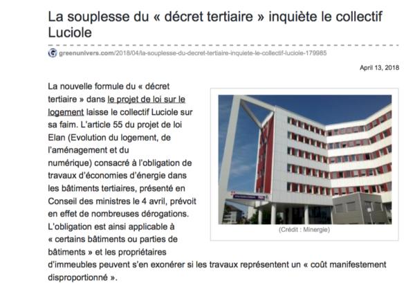 article décret tertiaire